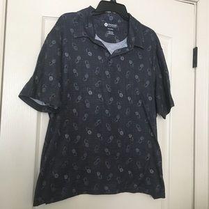💥Haggar Clothing Men's pineapple collar shirt💥